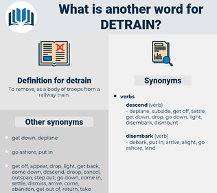 detrain, synonym detrain, another word for detrain, words like detrain, thesaurus detrain