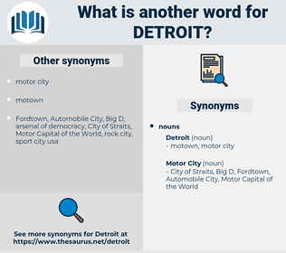 detroit, synonym detroit, another word for detroit, words like detroit, thesaurus detroit