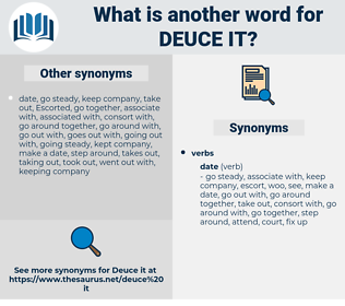 deuce it, synonym deuce it, another word for deuce it, words like deuce it, thesaurus deuce it