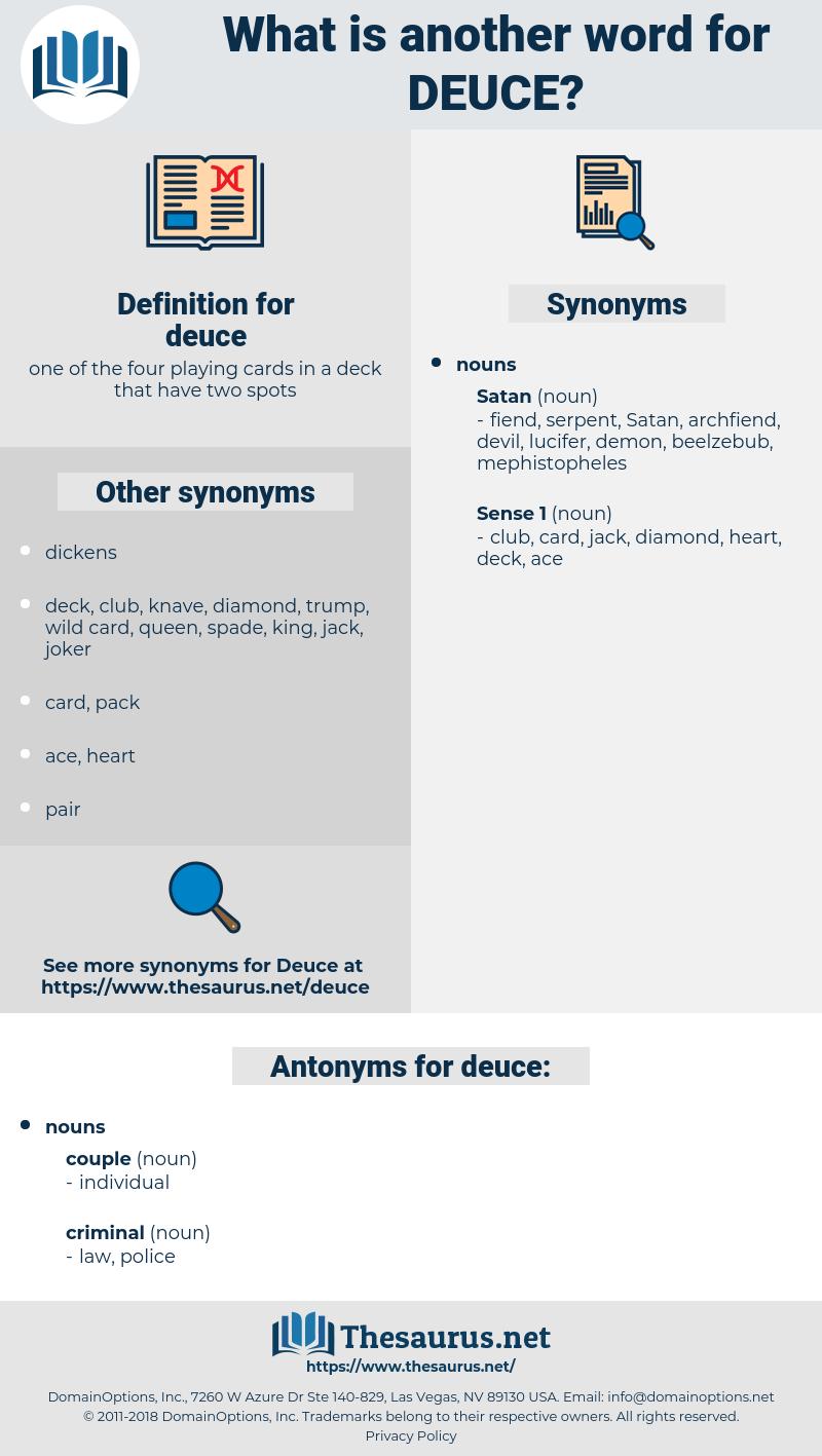 deuce, synonym deuce, another word for deuce, words like deuce, thesaurus deuce
