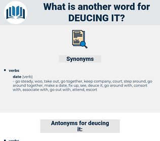 deucing it, synonym deucing it, another word for deucing it, words like deucing it, thesaurus deucing it