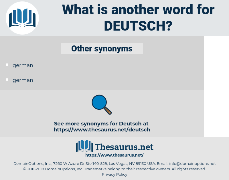 Deutsch, synonym Deutsch, another word for Deutsch, words like Deutsch, thesaurus Deutsch