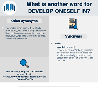 develop oneself in, synonym develop oneself in, another word for develop oneself in, words like develop oneself in, thesaurus develop oneself in