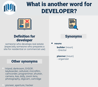 developer, synonym developer, another word for developer, words like developer, thesaurus developer