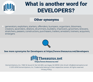 developers, synonym developers, another word for developers, words like developers, thesaurus developers