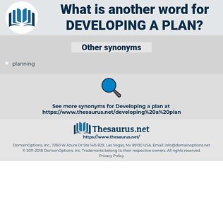 developing a plan, synonym developing a plan, another word for developing a plan, words like developing a plan, thesaurus developing a plan