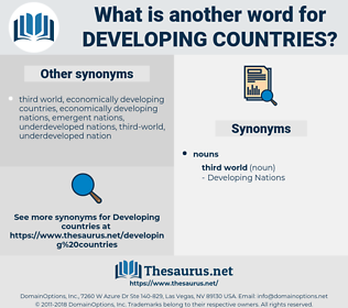 Developing Countries, synonym Developing Countries, another word for Developing Countries, words like Developing Countries, thesaurus Developing Countries