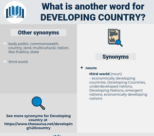 Developing Country, synonym Developing Country, another word for Developing Country, words like Developing Country, thesaurus Developing Country