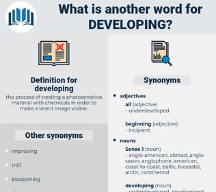 developing, synonym developing, another word for developing, words like developing, thesaurus developing