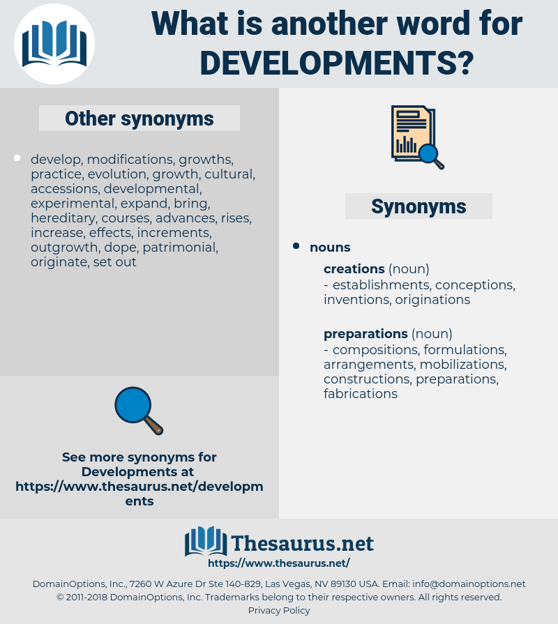 developments, synonym developments, another word for developments, words like developments, thesaurus developments