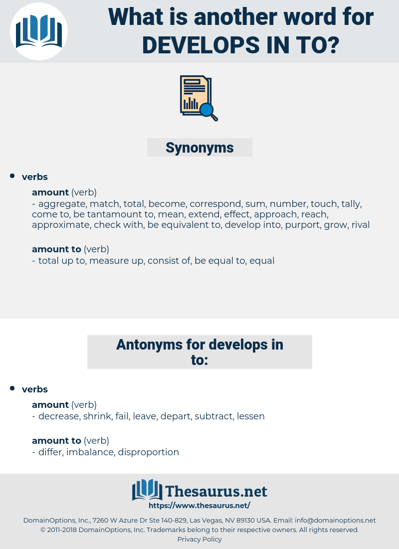 develops in to, synonym develops in to, another word for develops in to, words like develops in to, thesaurus develops in to