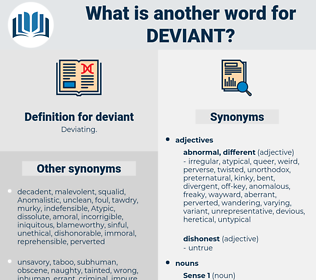 deviant, synonym deviant, another word for deviant, words like deviant, thesaurus deviant