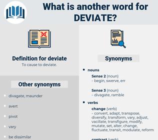 deviate, synonym deviate, another word for deviate, words like deviate, thesaurus deviate