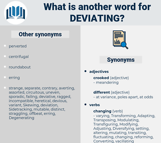 Deviating, synonym Deviating, another word for Deviating, words like Deviating, thesaurus Deviating