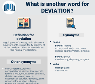 deviation, synonym deviation, another word for deviation, words like deviation, thesaurus deviation