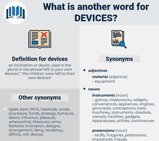 devices, synonym devices, another word for devices, words like devices, thesaurus devices