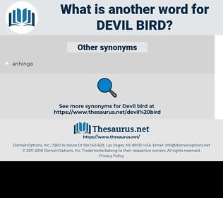 Devil bird, synonym Devil bird, another word for Devil bird, words like Devil bird, thesaurus Devil bird