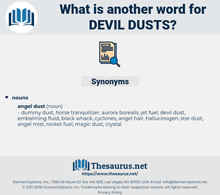 devil dusts, synonym devil dusts, another word for devil dusts, words like devil dusts, thesaurus devil dusts