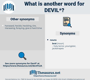 devil, synonym devil, another word for devil, words like devil, thesaurus devil