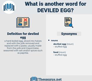 deviled egg, synonym deviled egg, another word for deviled egg, words like deviled egg, thesaurus deviled egg