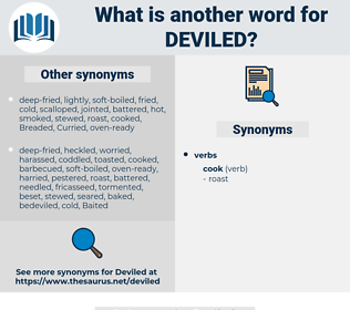 Deviled, synonym Deviled, another word for Deviled, words like Deviled, thesaurus Deviled
