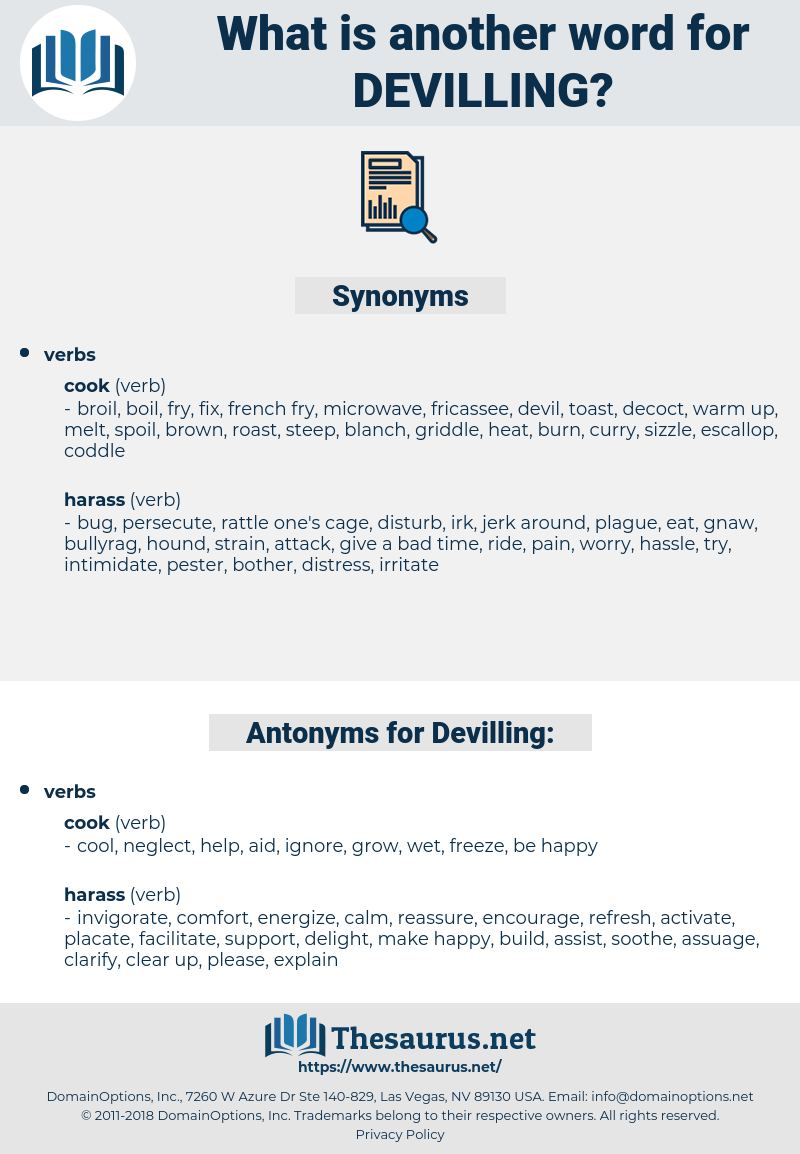 Devilling, synonym Devilling, another word for Devilling, words like Devilling, thesaurus Devilling