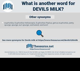 devils milk, synonym devils milk, another word for devils milk, words like devils milk, thesaurus devils milk