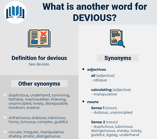 devious, synonym devious, another word for devious, words like devious, thesaurus devious