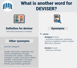 deviser, synonym deviser, another word for deviser, words like deviser, thesaurus deviser