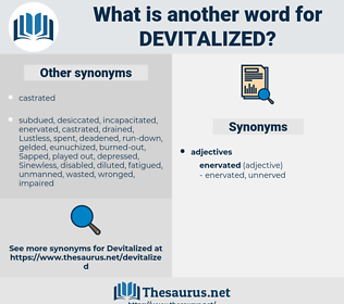 devitalized, synonym devitalized, another word for devitalized, words like devitalized, thesaurus devitalized