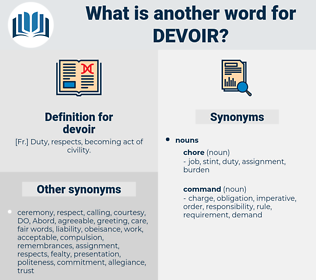devoir, synonym devoir, another word for devoir, words like devoir, thesaurus devoir