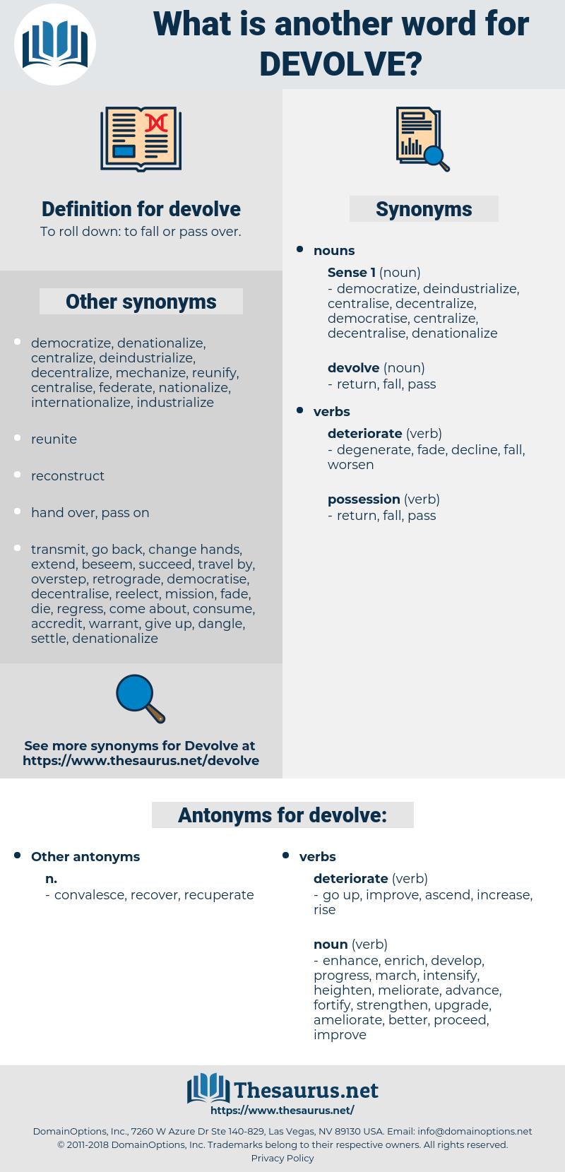 devolve, synonym devolve, another word for devolve, words like devolve, thesaurus devolve