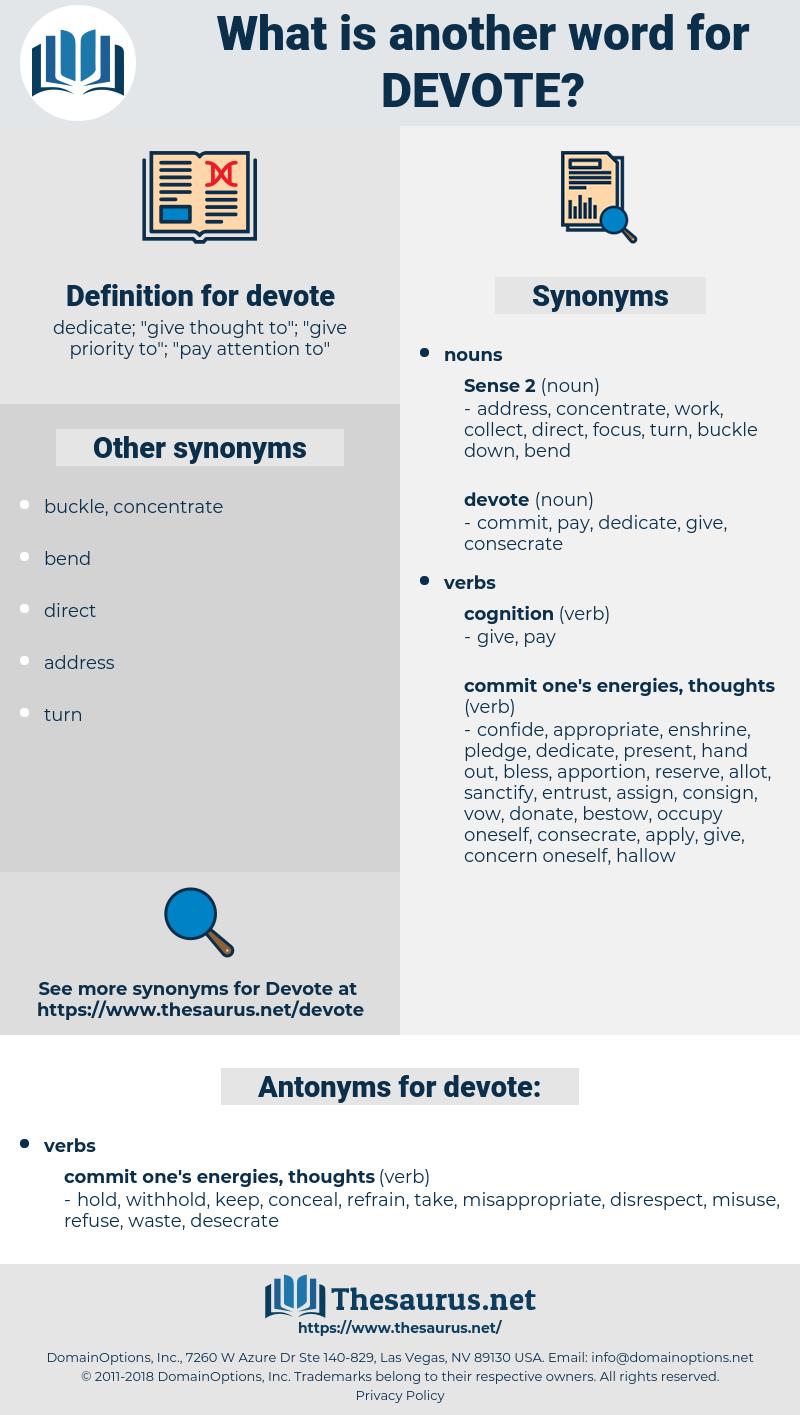 devote, synonym devote, another word for devote, words like devote, thesaurus devote