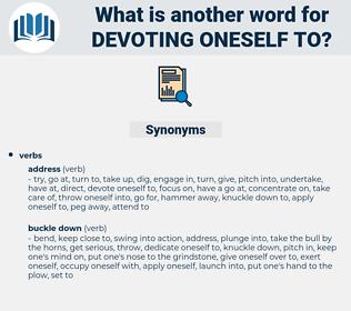 devoting oneself to, synonym devoting oneself to, another word for devoting oneself to, words like devoting oneself to, thesaurus devoting oneself to