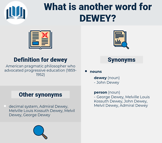 dewey, synonym dewey, another word for dewey, words like dewey, thesaurus dewey