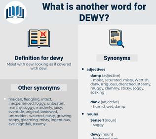 dewy, synonym dewy, another word for dewy, words like dewy, thesaurus dewy