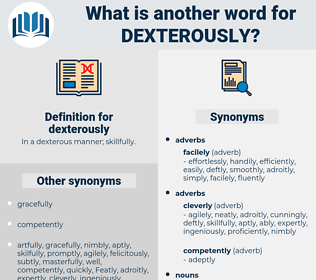 dexterously, synonym dexterously, another word for dexterously, words like dexterously, thesaurus dexterously