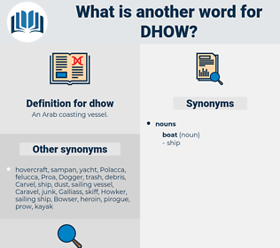 dhow, synonym dhow, another word for dhow, words like dhow, thesaurus dhow
