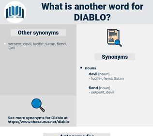 Diablo, synonym Diablo, another word for Diablo, words like Diablo, thesaurus Diablo