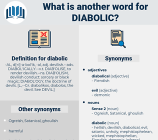 diabolic, synonym diabolic, another word for diabolic, words like diabolic, thesaurus diabolic