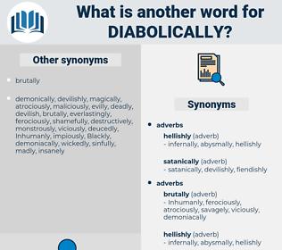diabolically, synonym diabolically, another word for diabolically, words like diabolically, thesaurus diabolically