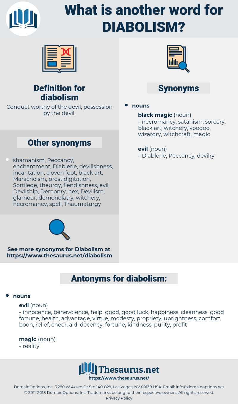 diabolism, synonym diabolism, another word for diabolism, words like diabolism, thesaurus diabolism