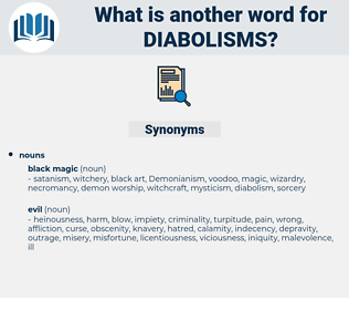 diabolisms, synonym diabolisms, another word for diabolisms, words like diabolisms, thesaurus diabolisms