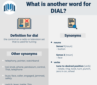 dial, synonym dial, another word for dial, words like dial, thesaurus dial