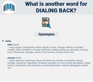 dialing back, synonym dialing back, another word for dialing back, words like dialing back, thesaurus dialing back