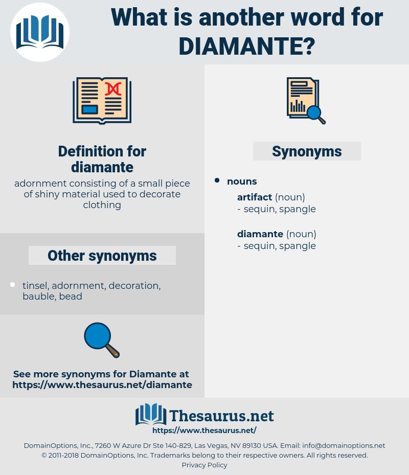 diamante, synonym diamante, another word for diamante, words like diamante, thesaurus diamante