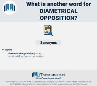 diametrical opposition, synonym diametrical opposition, another word for diametrical opposition, words like diametrical opposition, thesaurus diametrical opposition