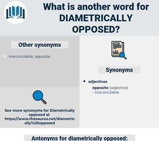 diametrically opposed, synonym diametrically opposed, another word for diametrically opposed, words like diametrically opposed, thesaurus diametrically opposed