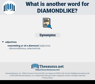 diamondlike, synonym diamondlike, another word for diamondlike, words like diamondlike, thesaurus diamondlike