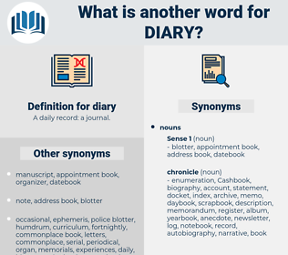 diary, synonym diary, another word for diary, words like diary, thesaurus diary